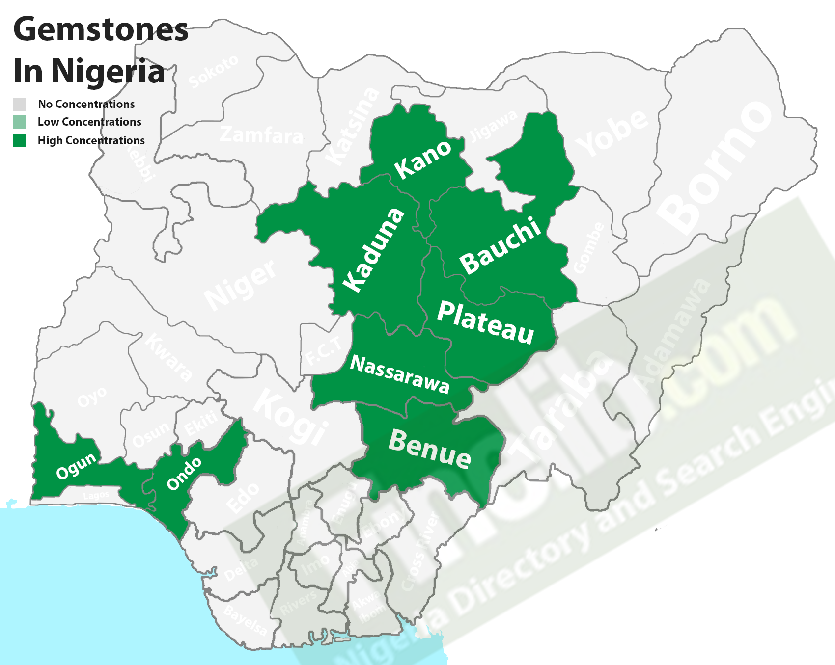 Gemstones deposits in Nigeria