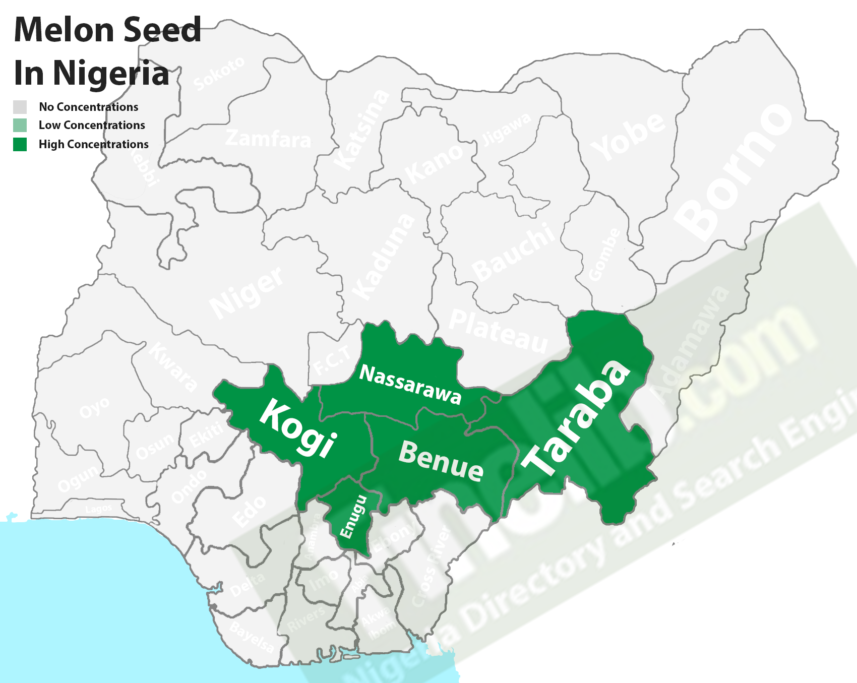 Melon seed producing states in Nigeria