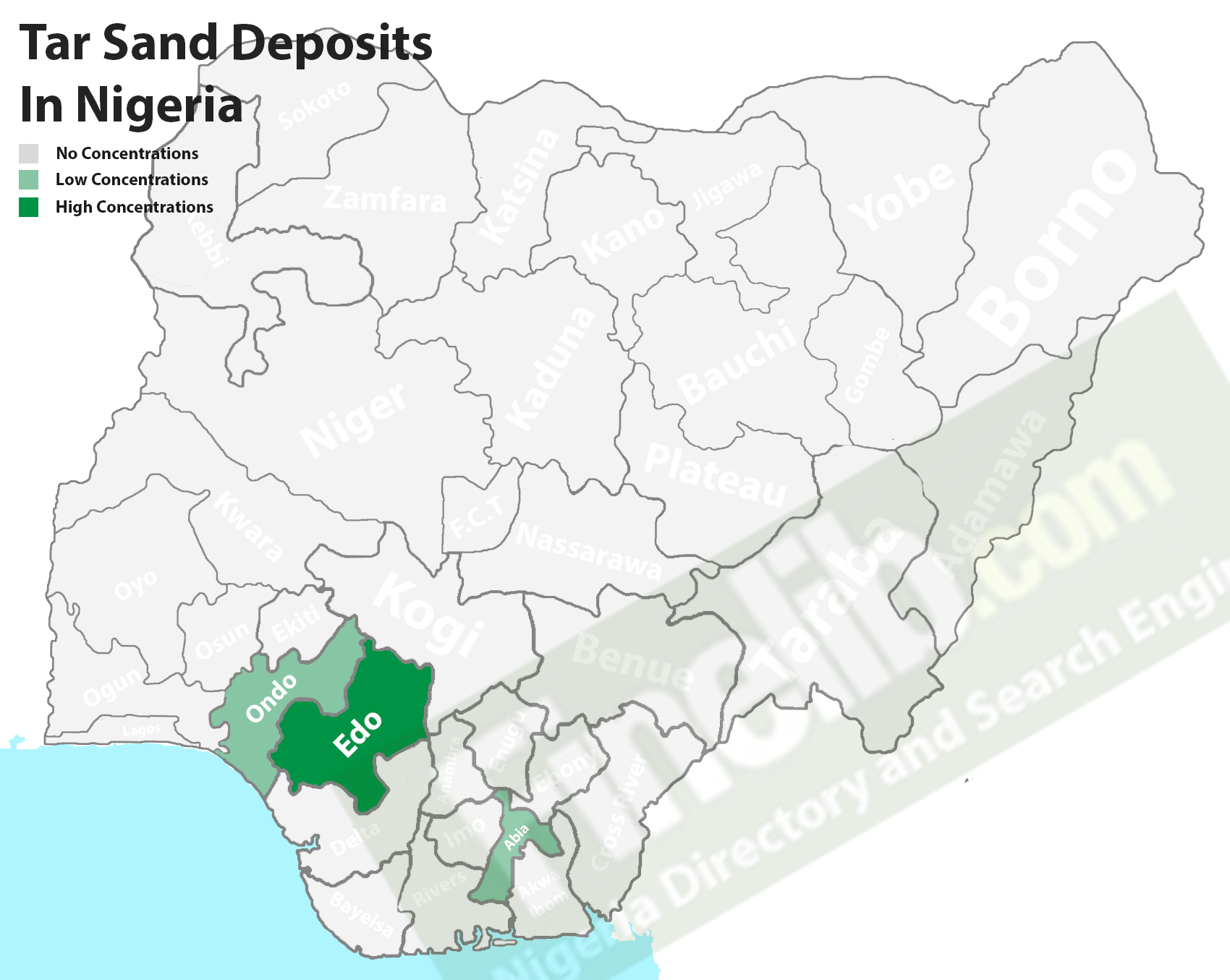 Tar sand mineral deposits in Nigeria