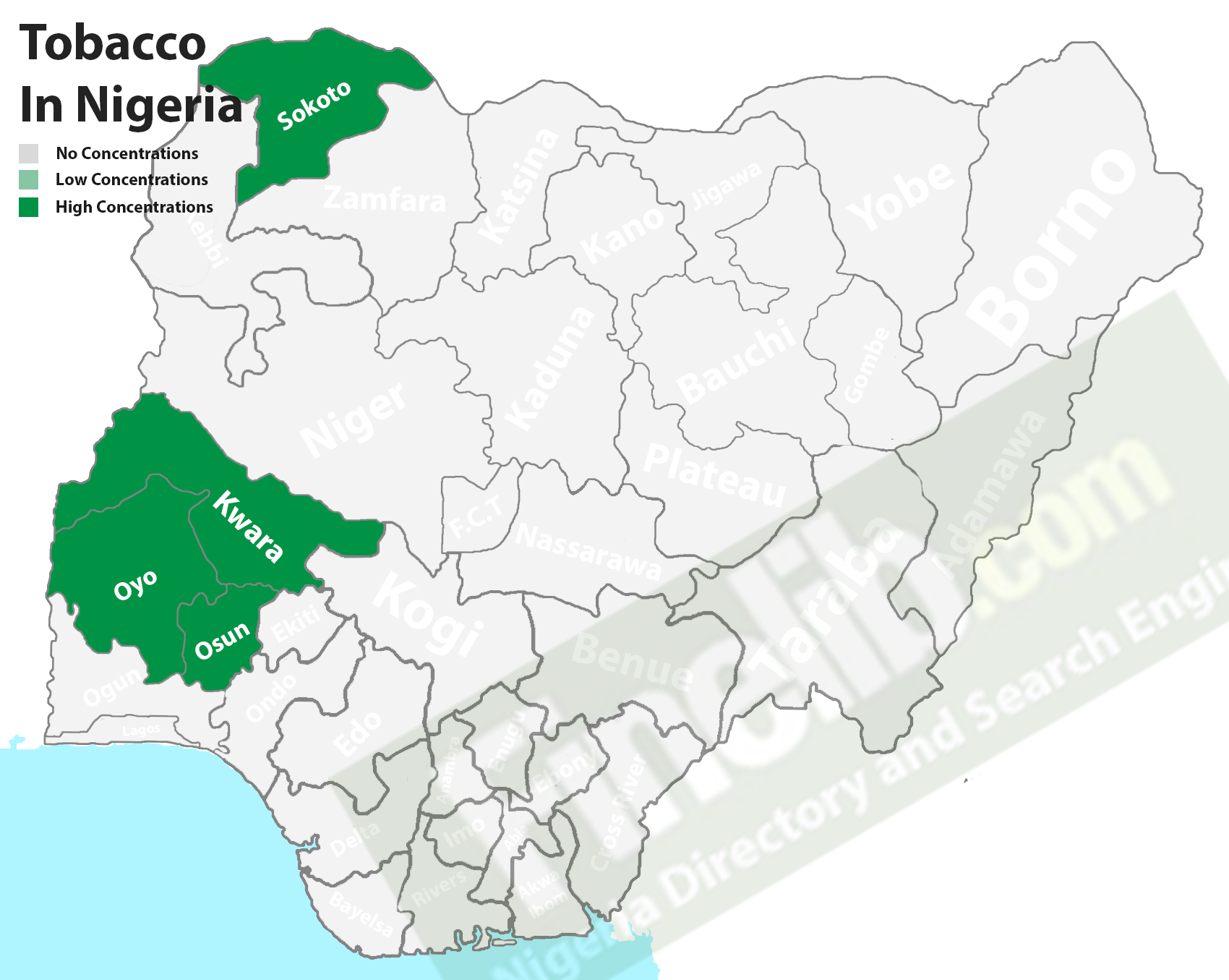 Tobacco producing states in Nigeria